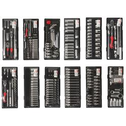 JTC 5641+496 Инструментальная тележка 8 секций с инструментом (496 предметов) JTC Мебель металлическая Сервисное оборудование