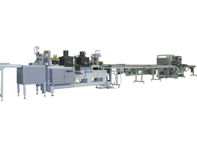 Автоматическая линия беспрерывного сращивания ЛБСА 002 Бакаут Сращивание по длине Столярные станки